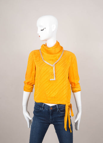 New With Tags Yellow Top With Scarf