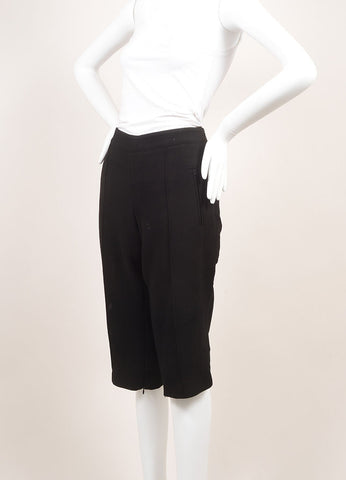 Andrew Gn New With Tags Black Wool Tailored Bermuda Shorts  Sideview