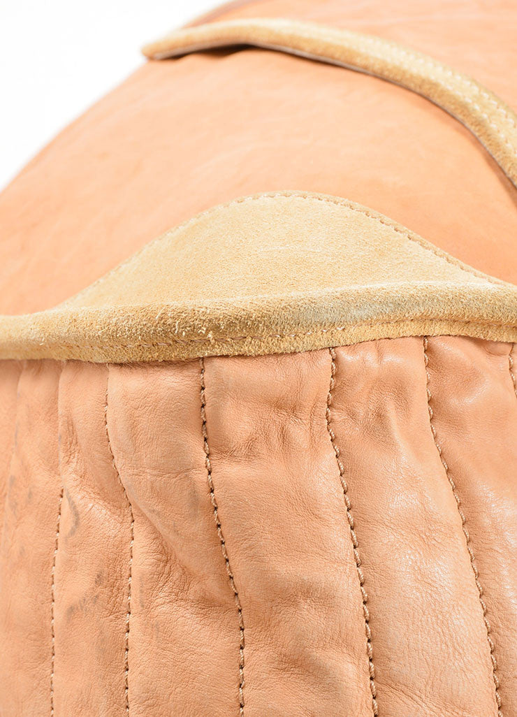 Celine Tan Leather Oversized Messenger Bag Detail