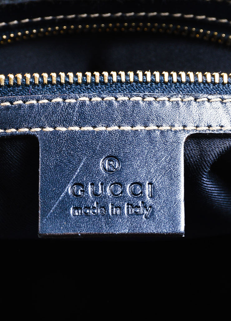 "Black Gucci ""Treasure Guccissima Boston"" Monogram Leather Bag Brand"
