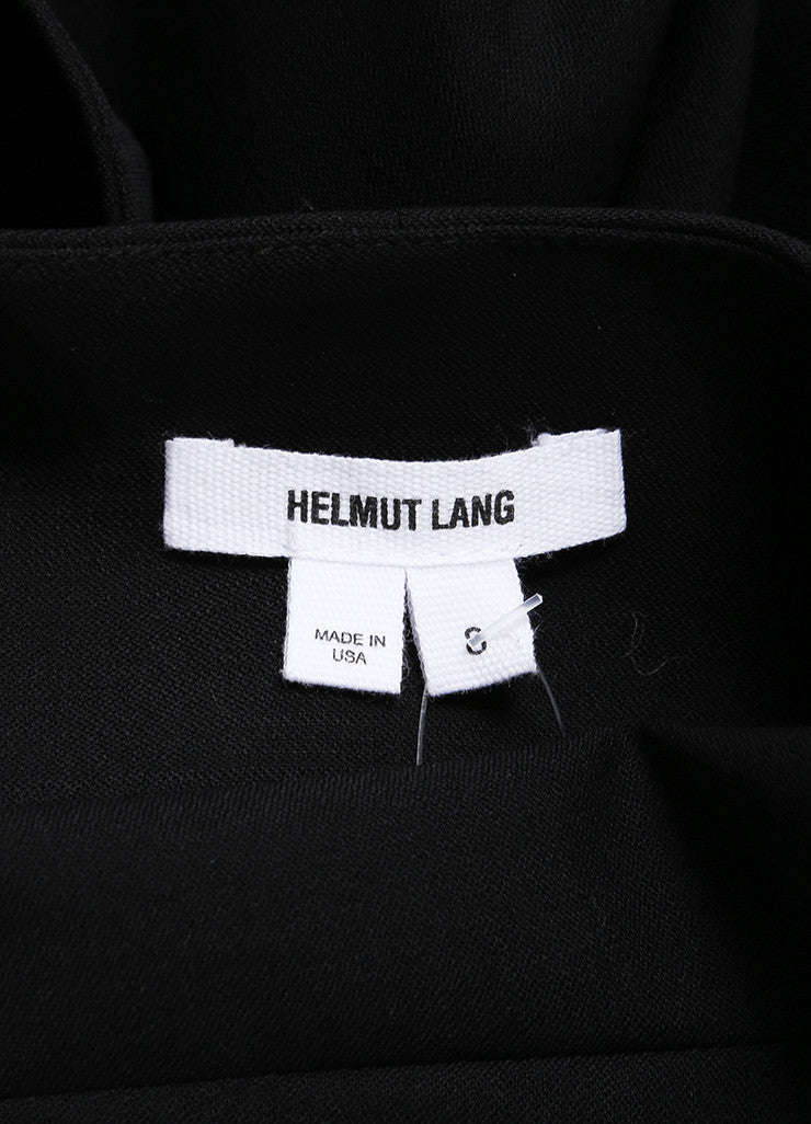 Helmut Lang New With Tags Black Wool Crepe Long Sleeve Smoking Jacket Brand