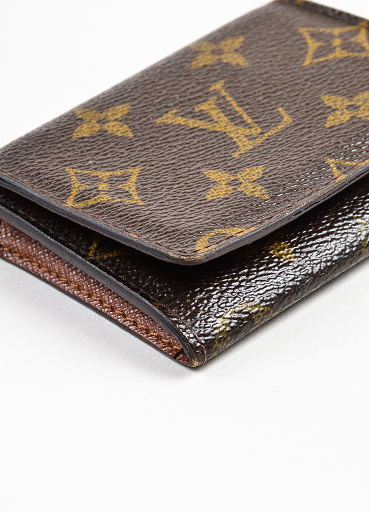 "Louis Vuitton Brown Monogram Canvas ""Business Card Holder"" Detail"