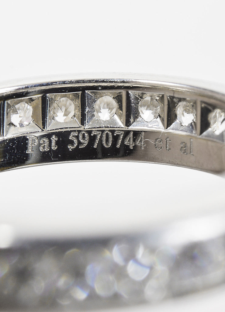 "Tiffany & Co. Platinum Diamond Channel Set ""Lucida"" Band Ring Detail 2"