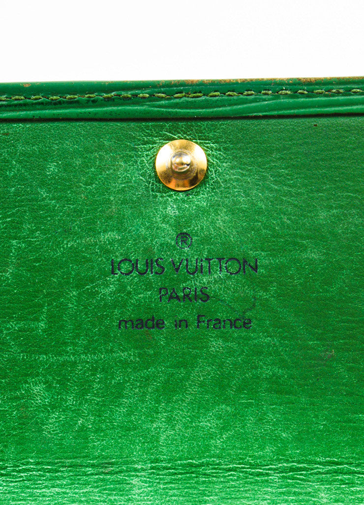 Louis Vuitton Green Epi Leather Long Wallet Brand