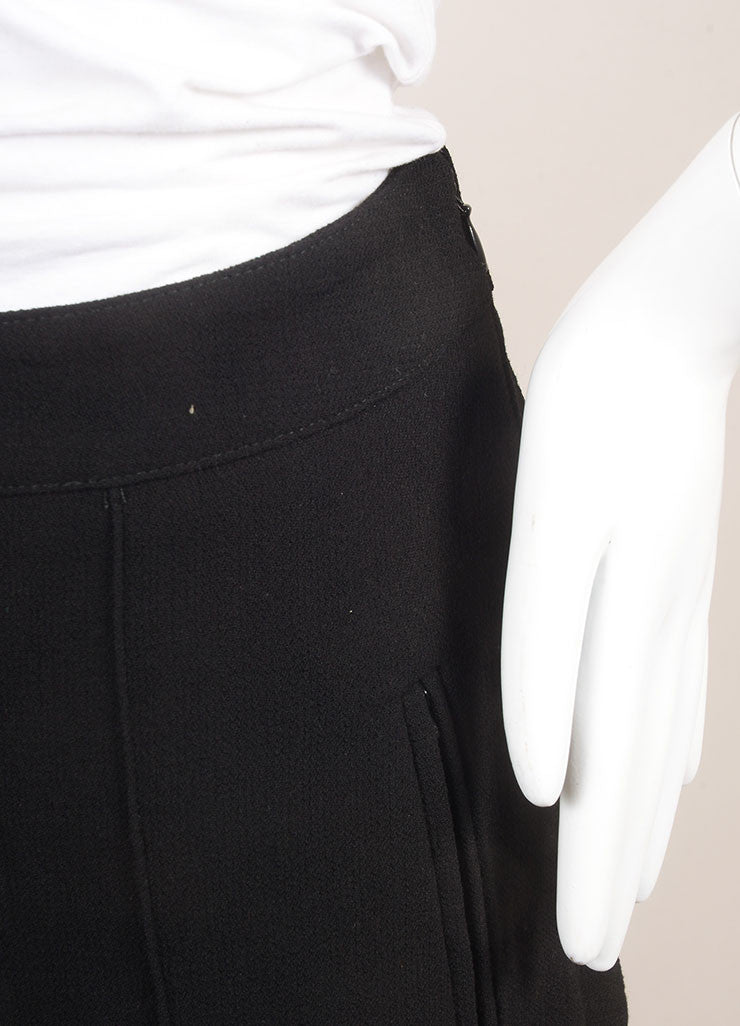 Andrew Gn New With Tags Black Wool Tailored Bermuda Shorts  Detail