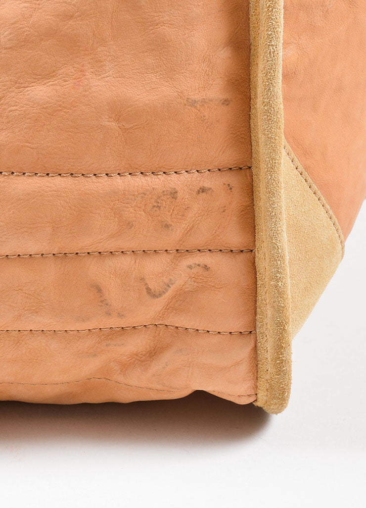 Celine Tan Leather Oversized Messenger Bag Detail 2