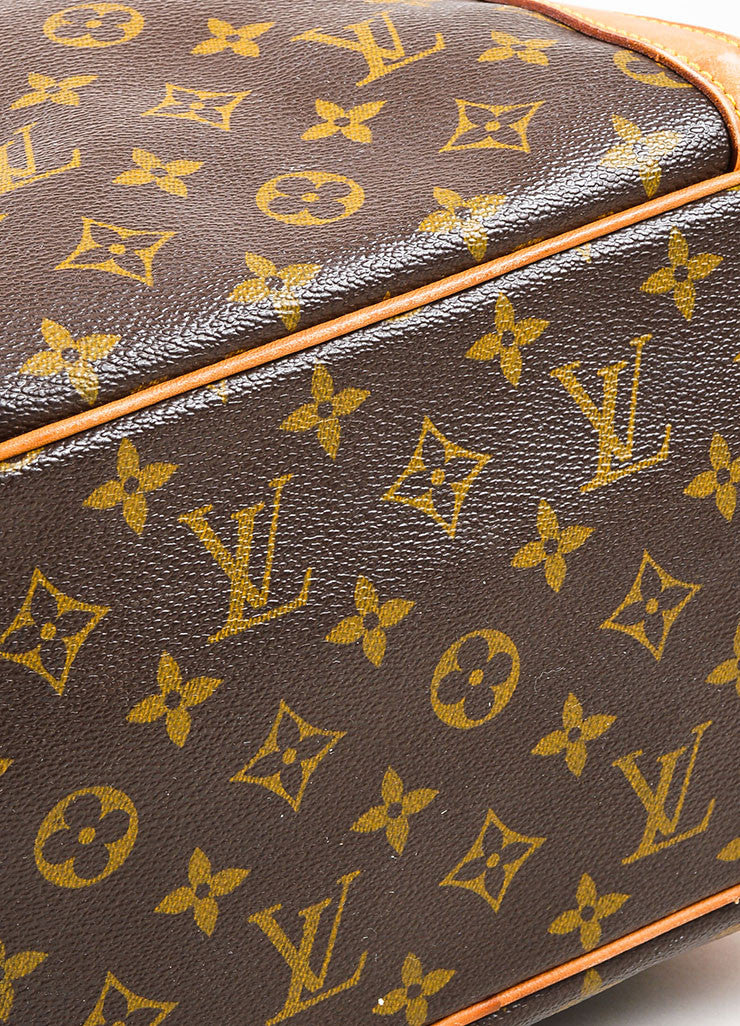 "Louis Vuitton Brown and Tan Monogram Coated Canvas ""Sac Shopping"" Tote Bag bottom View"