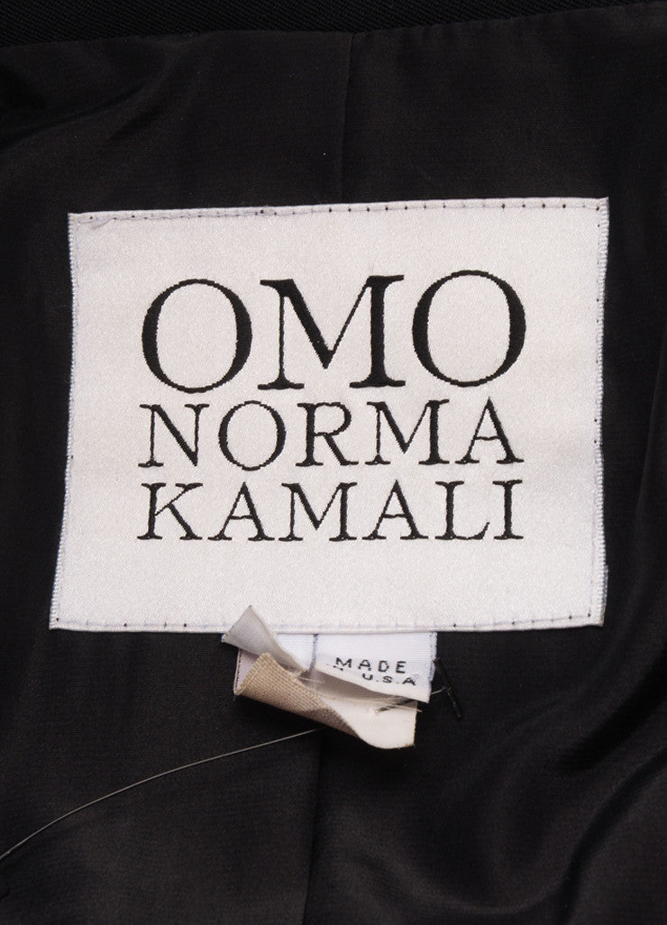 Norma Kamali Black and Yellow Military Jacket Brand