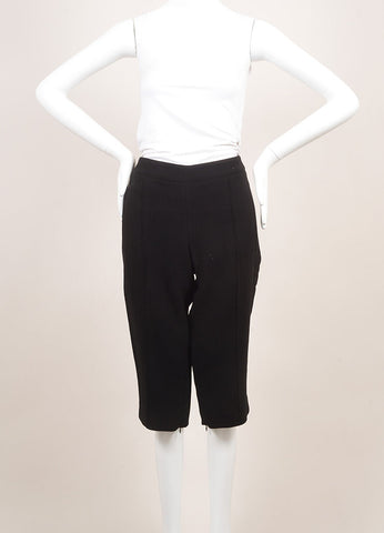Andrew Gn New With Tags Black Wool Tailored Bermuda Shorts  Frontview
