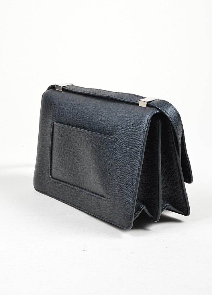 Black Leather Celine Medium Case Bag Sideview