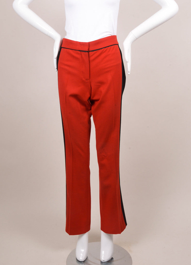 Derek Lam Red and Black Wool Trousers Frontview