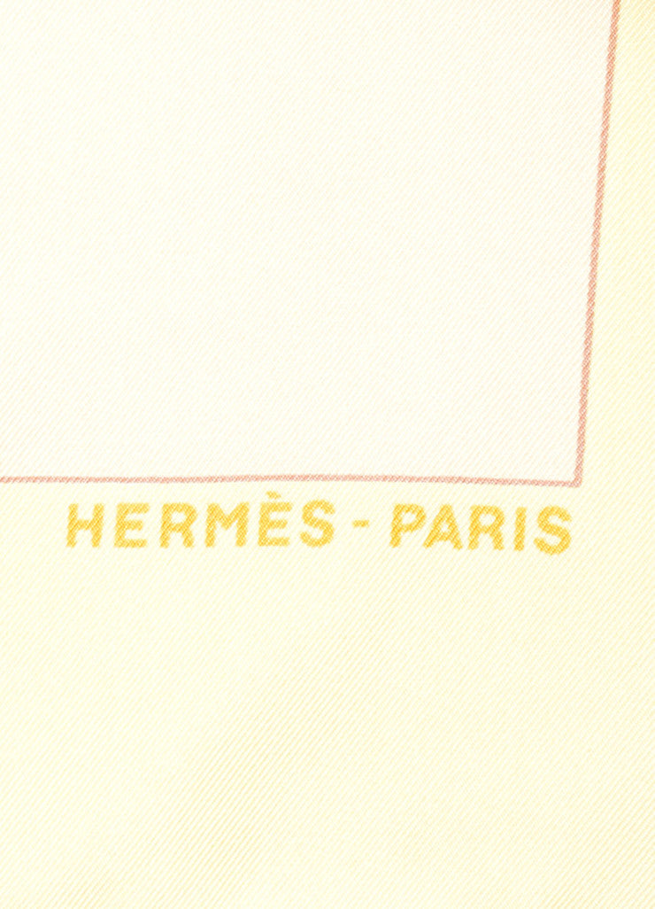 "Hermes Multicolor Silk Twill ""Charmes Des Plages Normandes II"" Printed 90cm Scarf Brand"