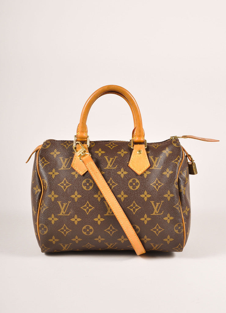 Louis Vuitton Brown Monogram Canvas 25cm Speedy Handbag  Frontview