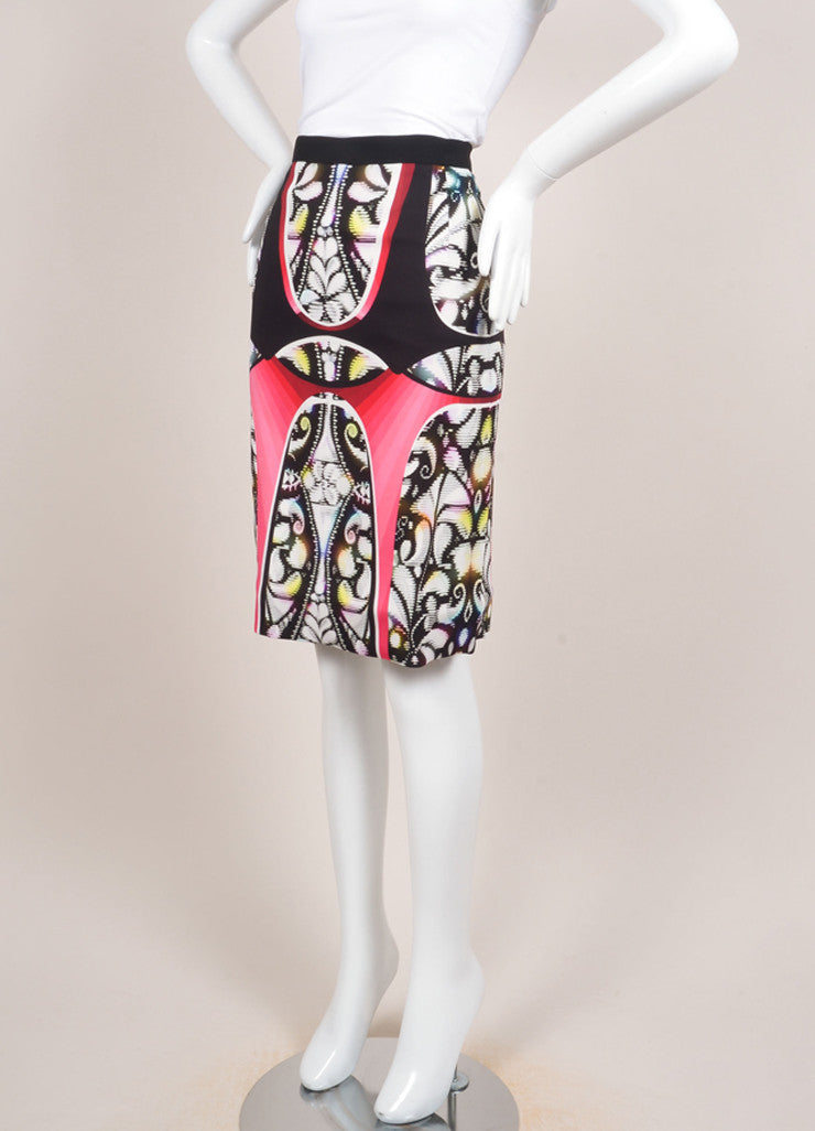 "Peter Pilotto New With Tags Multicolor Abstract Print ""Eleni"" Pencil Skirt Sideview"