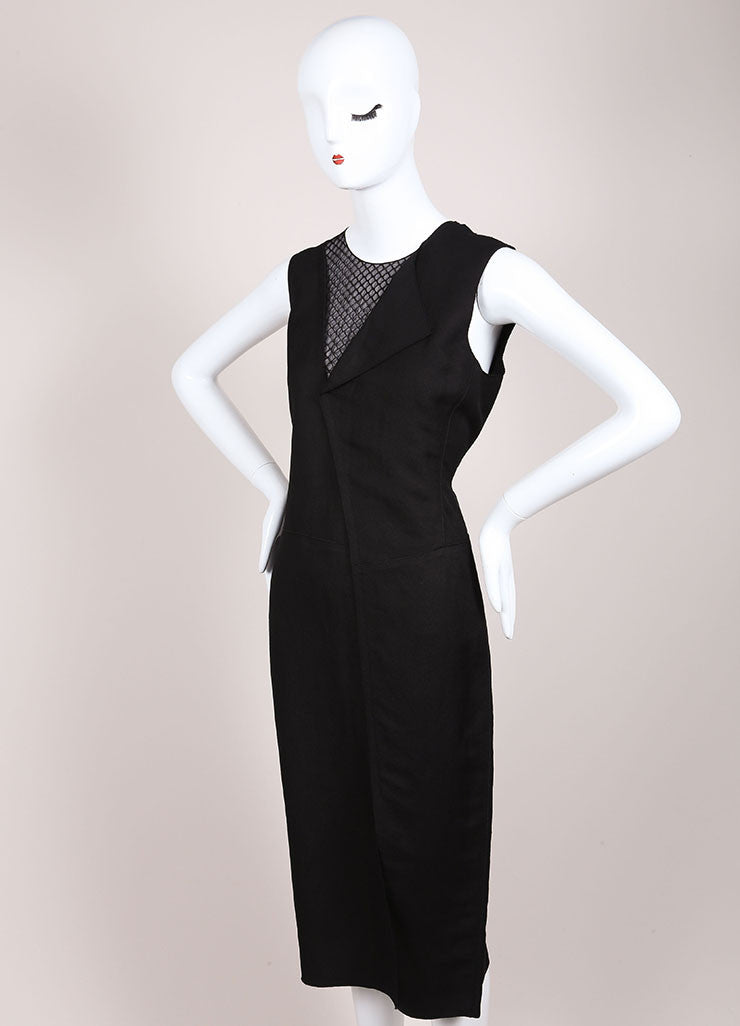 Reed Krakoff New With Tags Black Mesh Neck Sleeveless Sheath Dress Sideview