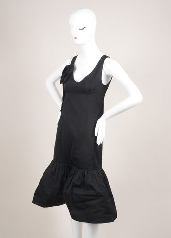 "Sonia Rykiel New With Tags Black Rosette Applique Sleeveless ""Memory"" Dress Sideview"