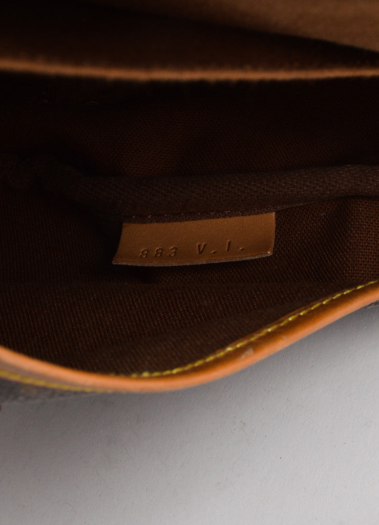 "Brown Louis Vuitton Monogram ""Saumur 35"" Messenger Bag Date"