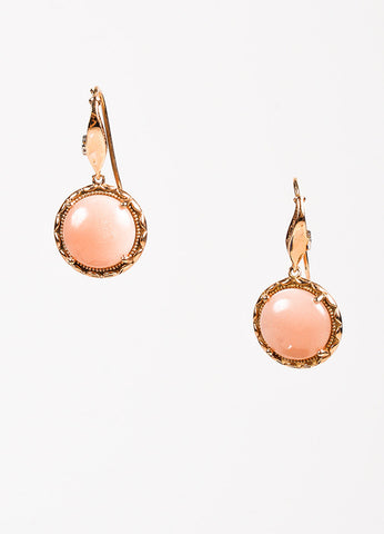 Tacori 18K Pink Gold Moonstone Circle Drop Earrings Front