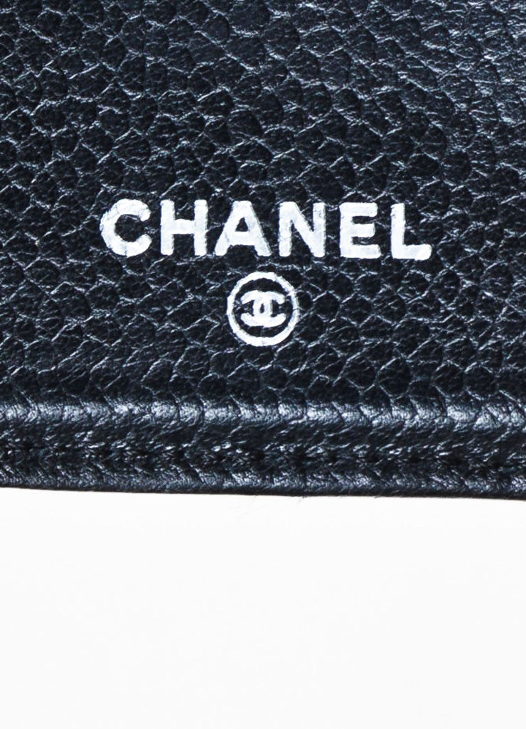 "Chanel Black Leather Quilted 'CC' Charm ""L Yen Holder"" Long Wallet Brand"
