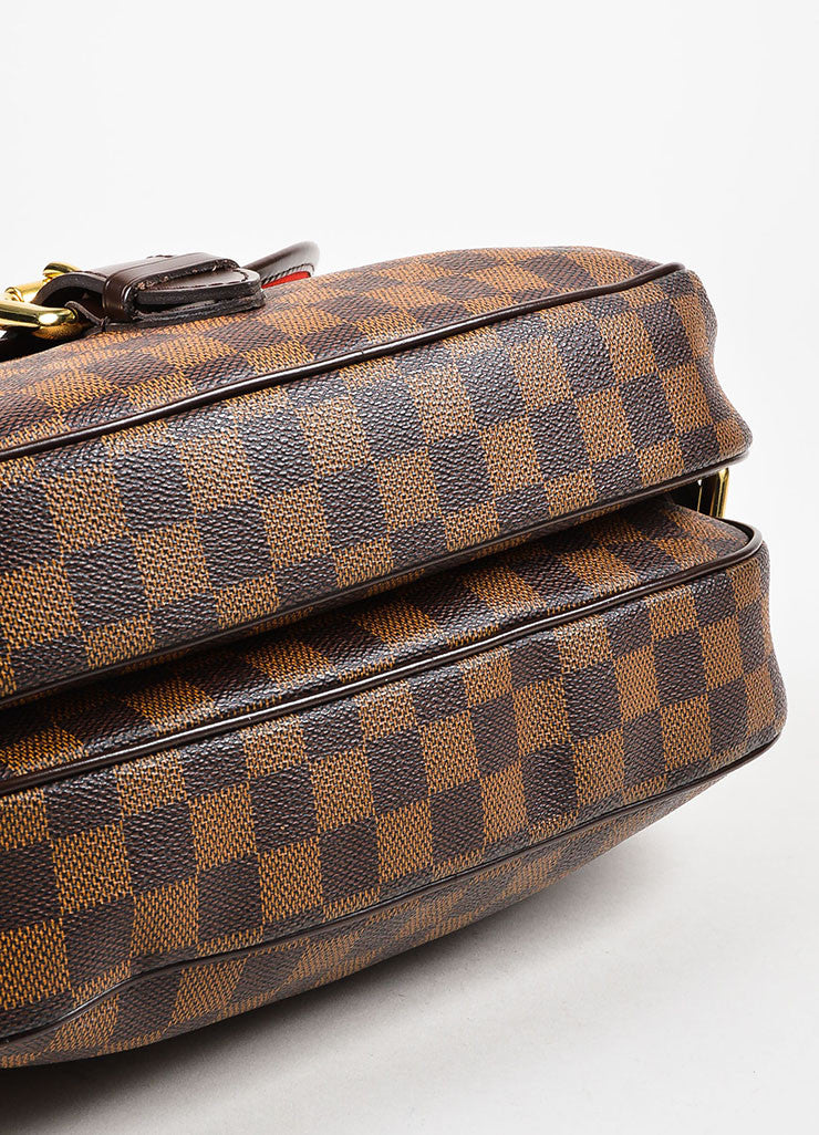 "Louis Vuitton Damier Ebene Canvas ""Highbury"" Shoulder Bag Bottom View"