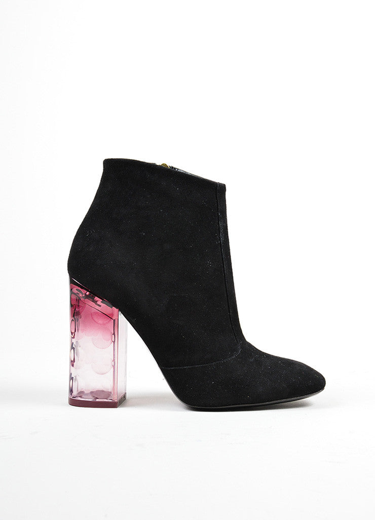 "Black and Purple å´?ÌÜNicholas Kirkwood Suede and Lucite ""Carnaby"" Boots Sideview"