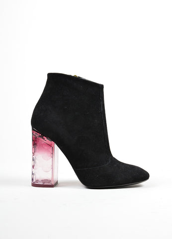 "Black and Purple ̴å«?ÌÎÌÏNicholas Kirkwood Suede and Lucite ""Carnaby"" Boots Sideview"