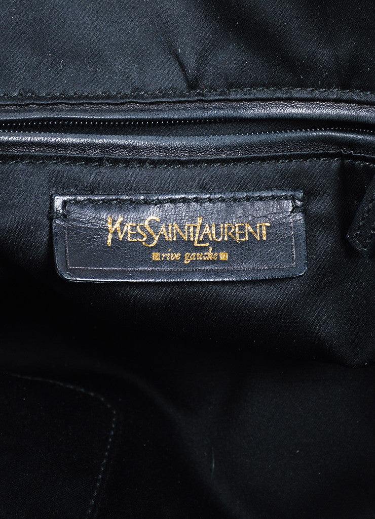 "Yves Saint Laurent Black Leather ""Muse"" Handbag Brand"