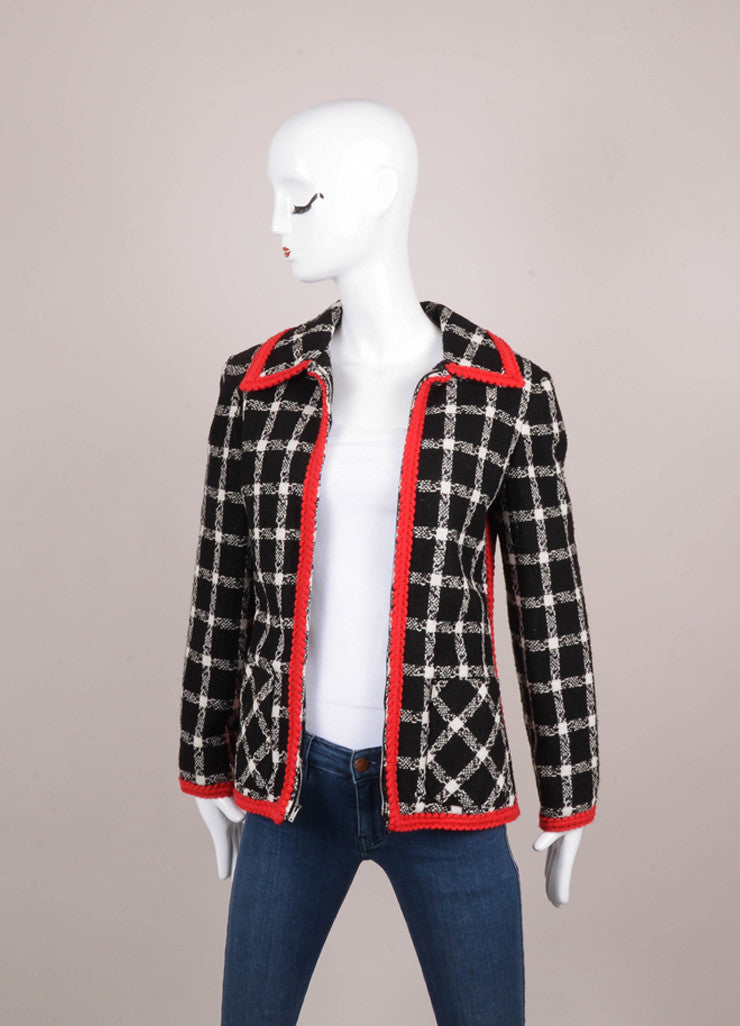 Black, White, and Red Jacket