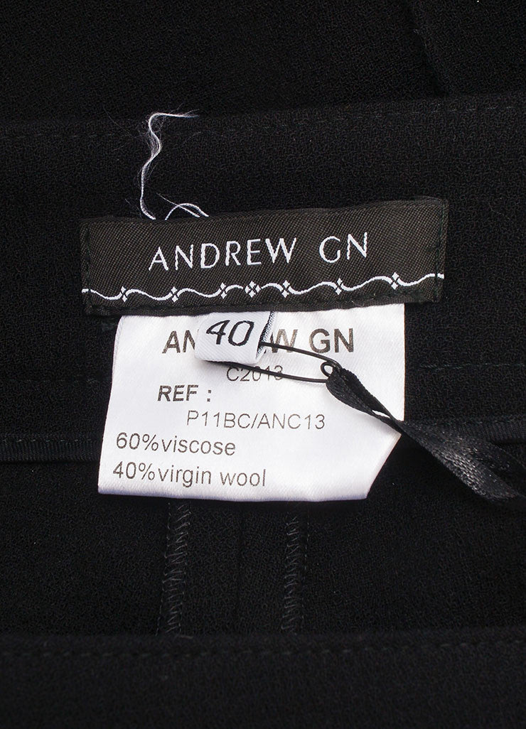 Andrew Gn New With Tags Black Wool Tailored Bermuda Shorts  Brand