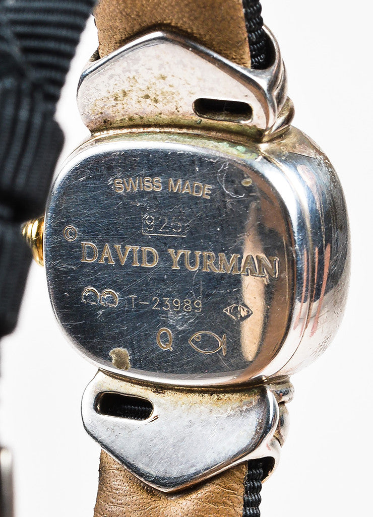 Sterling Silver & Pave Diamond David Yurman Ribbon Band Watch Detail