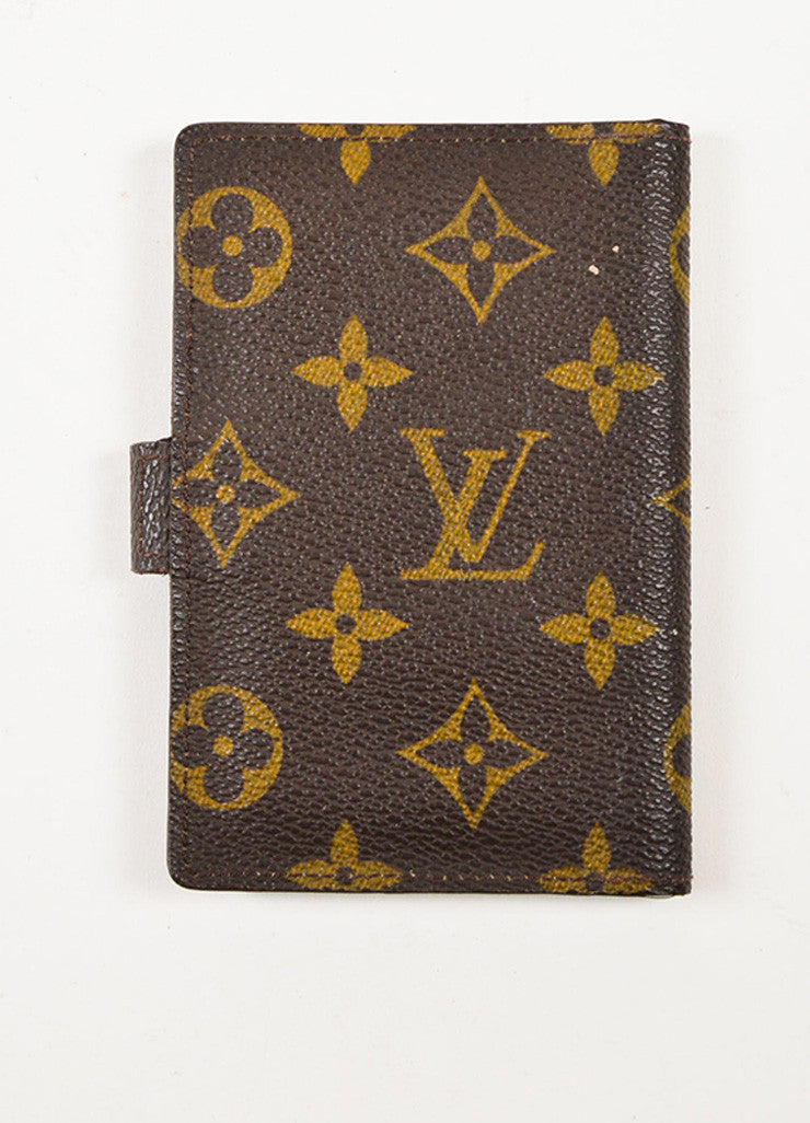 Louis Vuitton Brown and Tan Coated Canvas Monogram Bi Fold Wallet Backview