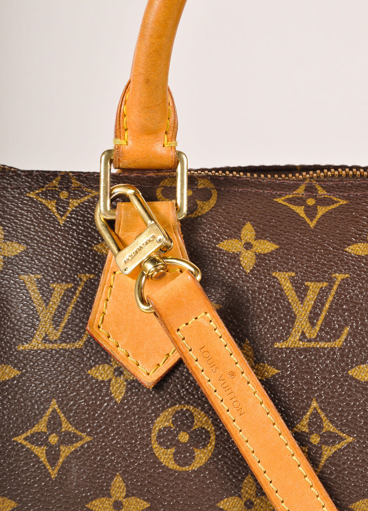 Louis Vuitton Brown Monogram Canvas 25cm Speedy Handbag Detail 2