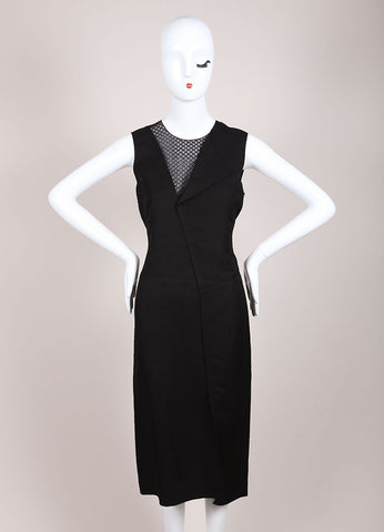 Reed Krakoff New With Tags Black Mesh Neck Sleeveless Sheath Dress Frontview