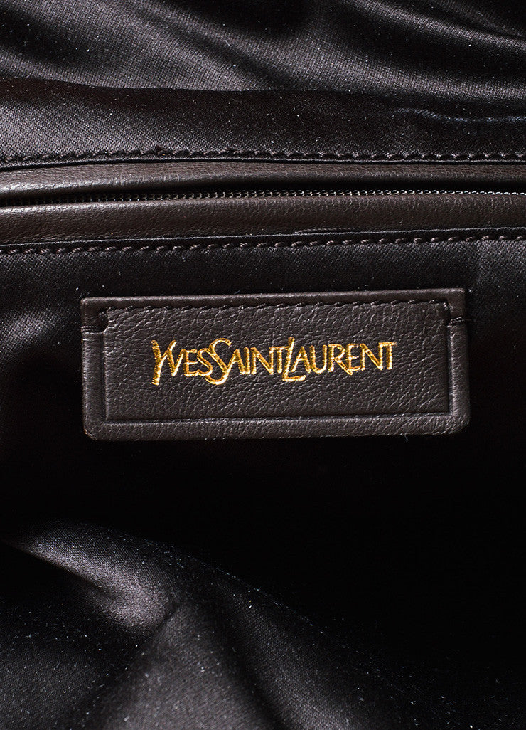 "Yves Saint Laurent Orange Leather ""Roady"" Tote Bag Brand"