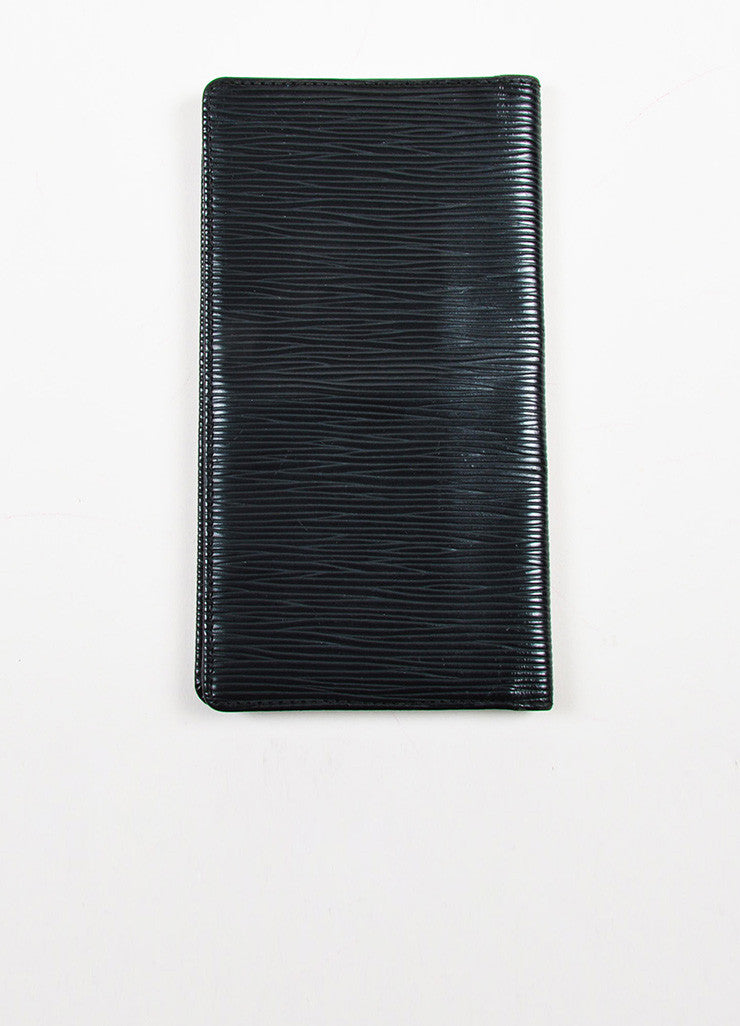 Louis Vuitton Black Epi Leather Checkbook Holder Wallet Backview