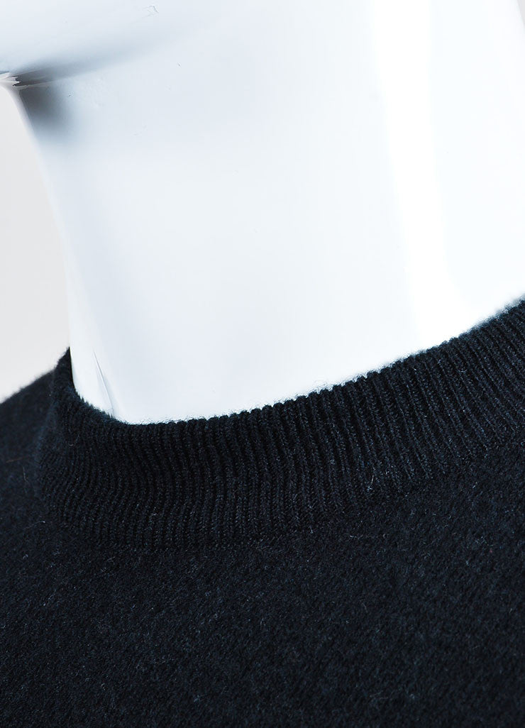 Men's Givenchy Black Orange Wool Elastic Strap Pullover Sweater Detail