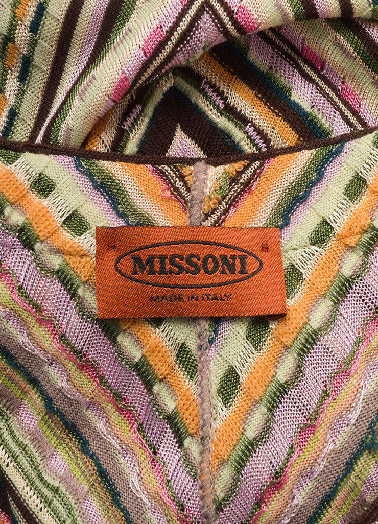 Missoni Multicolor Wool Blend Knit Long Sleeve A-Line Dress Brand