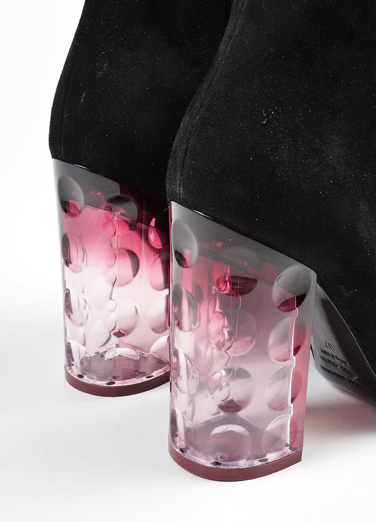 "Black and Purple å´?ÌÜNicholas Kirkwood Suede and Lucite ""Carnaby"" Boots Detail"