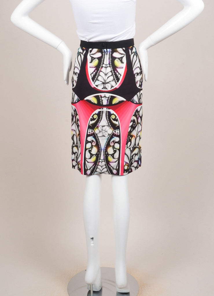 "Peter Pilotto New With Tags Multicolor Abstract Print ""Eleni"" Pencil Skirt Backview"