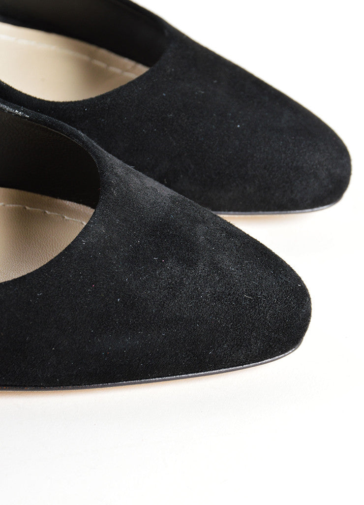 Christian Dior Black Suede Leather Optique Mirror Heel Pumps Detail