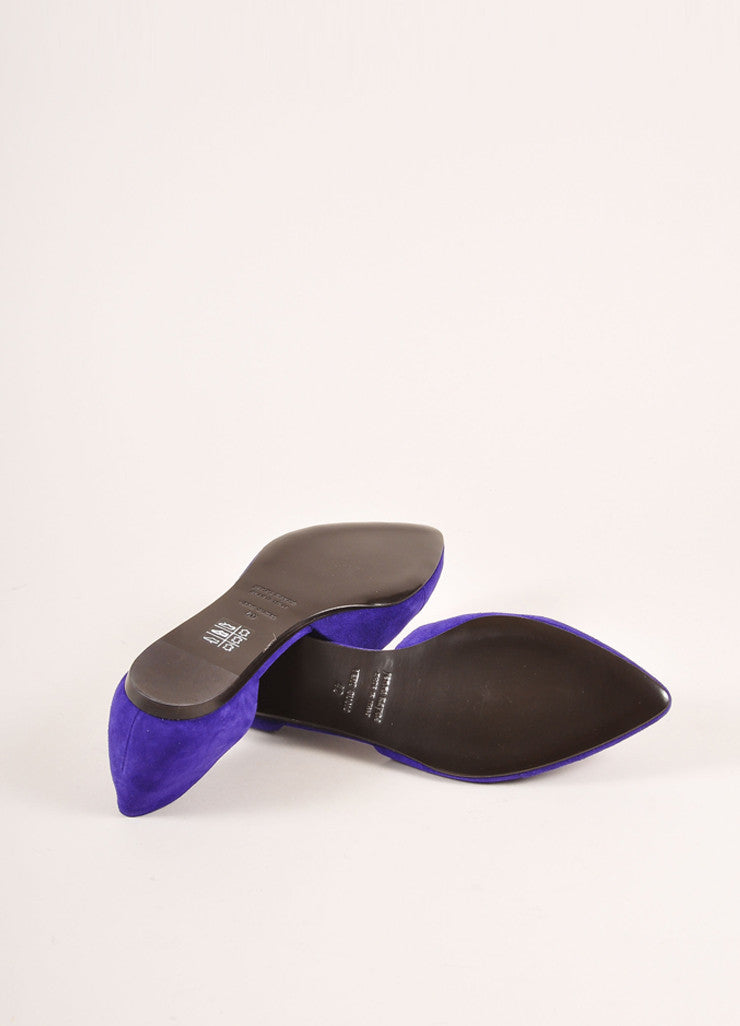 Jenni Kayne New Purple Suede D'Orsay Pointed Toe Flats Outsoles
