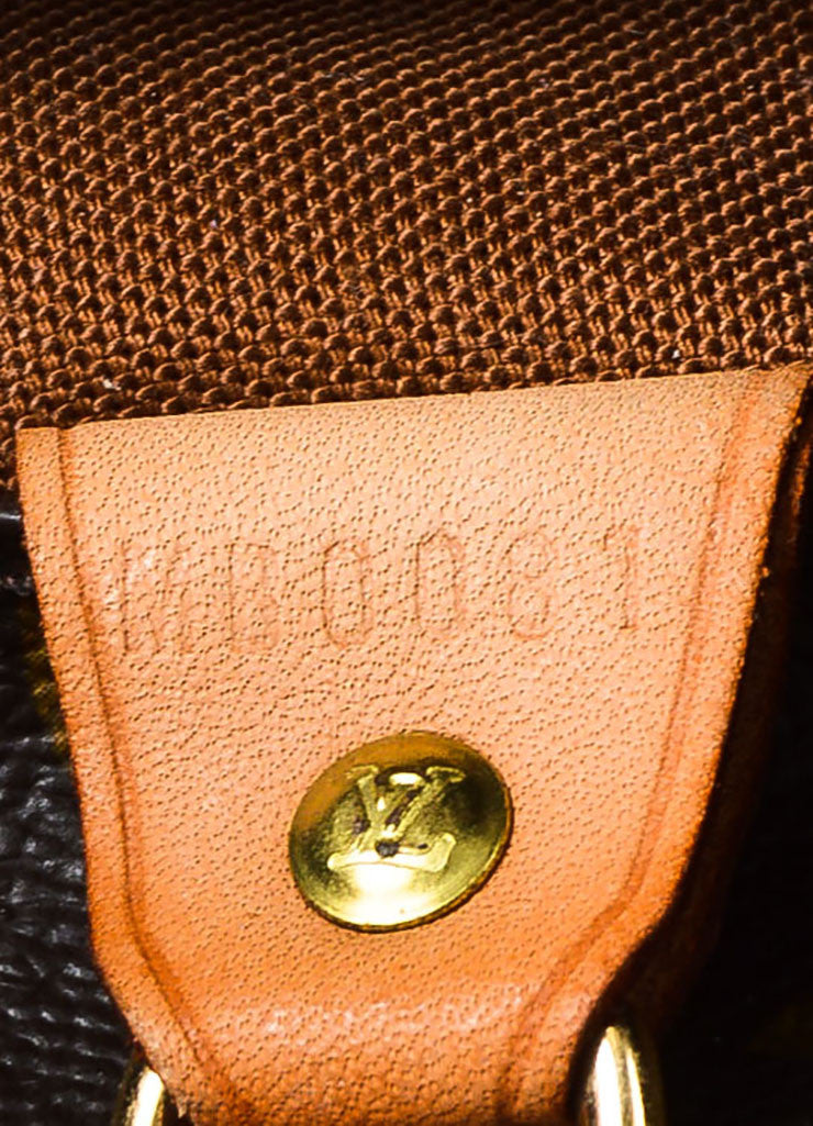 "Louis Vuitton Brown and Tan Monogram Coated Canvas ""Sac Shopping"" Tote Bag Date Code"