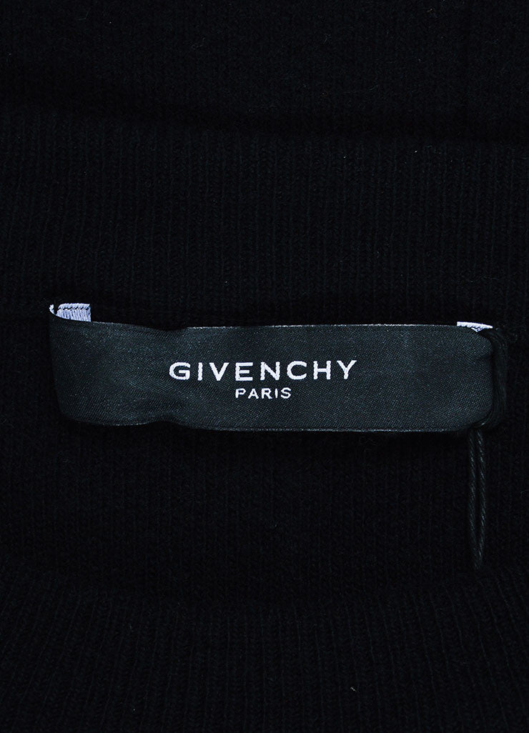 Men's Givenchy Black Orange Wool Elastic Strap Pullover Sweater Brand