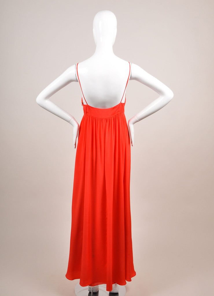 Miguelina New With Tags Poppy Red Sulma Silk Maxi Dress Backview