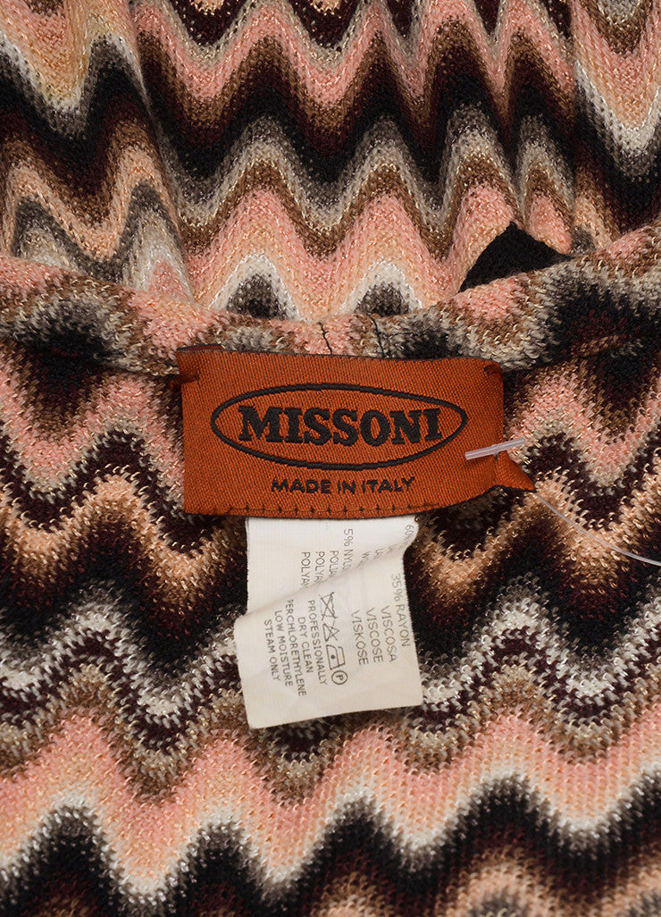 Missoni Multicolor Wave Print Hooded Wool Sweater Brand