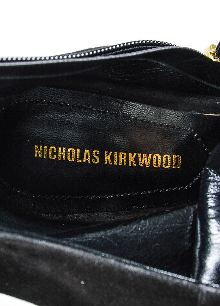 "Black and Purple ̴å«?ÌÎÌÏNicholas Kirkwood Suede and Lucite ""Carnaby"" Boots Brand"