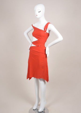 Tom Ford for Gucci Orange Cut Out Strappy Sleeveless Dress Sideview