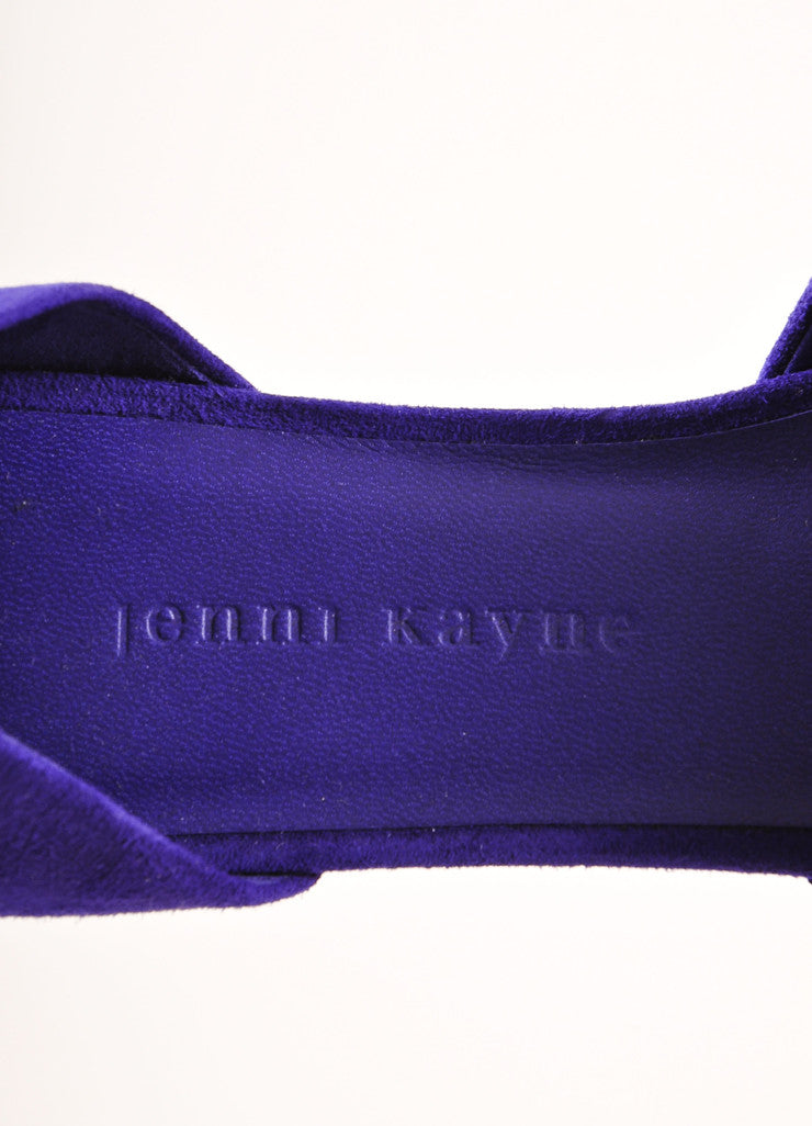 Jenni Kayne New Purple Suede D'Orsay Pointed Toe Flats Brand