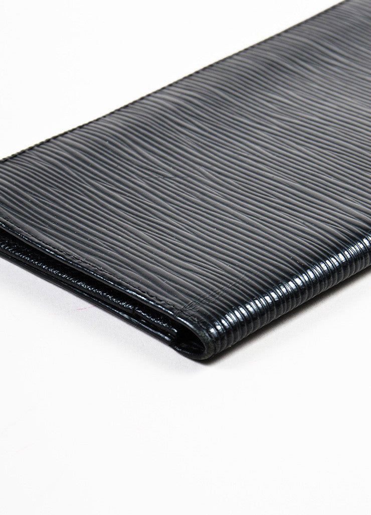 Louis Vuitton Black Epi Leather Checkbook Holder Wallet Detail