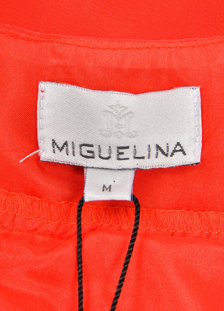 Miguelina New With Tags Poppy Red Sulma Silk Maxi Dress Brand